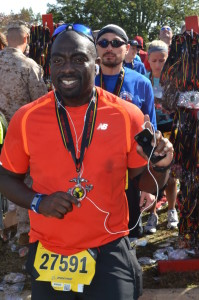 Cedric Cherry after the 2013 Marine Corps Marathon. Photo: MarathonFoto