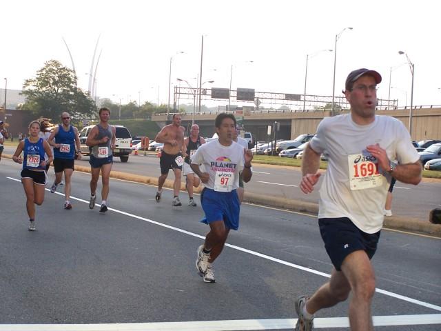 Walter Tejada running the 9/11 Memorial 5k Photo: Courtesy of Walter Tejada