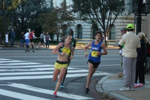 Kerri Gallagher at the 2014 Army Ten-Miler. Photo: Charlie Ban