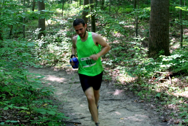 Jarrod Brennet nears 20 miles in the Rosaryville 50k. Photo: Charlie Ban
