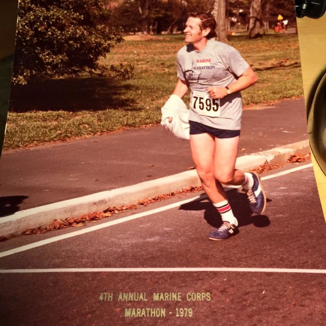 James Christopher Farley Jr at the 1979 Marine Corps Marathon.