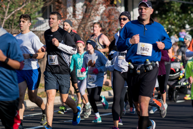 The Alexandria Turkey Trot attracted runners of all sizes. Photo: Cheryl Young