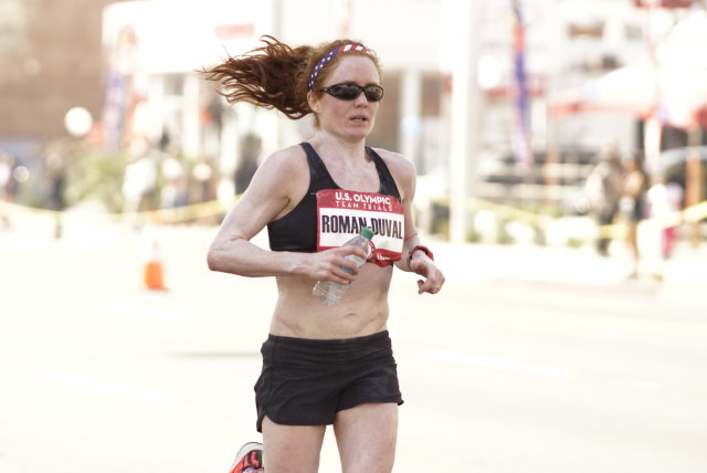 Julia Roman-Duval finished 50th at the U.S. Olympic Marathon Trials. Photo: Cheryl Young