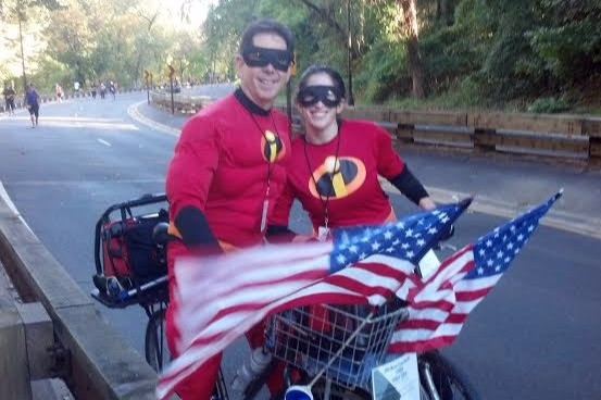 Paul and Lauren Silberman at the 2014 Marine Corps Marathon. Photo courtesy of Paul SIlberman