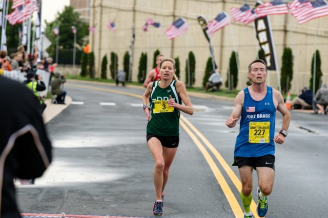 Perry Shoemaker finishes second at the Army Ten-Miler for the second year in a row. Photo: Dustin Whitlow/DWhit Photography