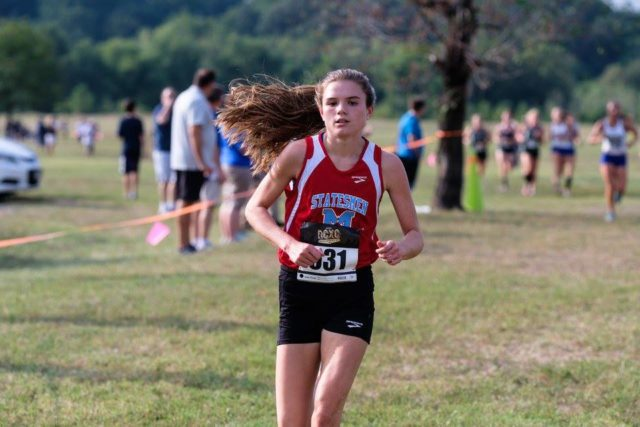 Ava Bir at the DCXC Invitational junior race. Photo: Dustin Whitlow