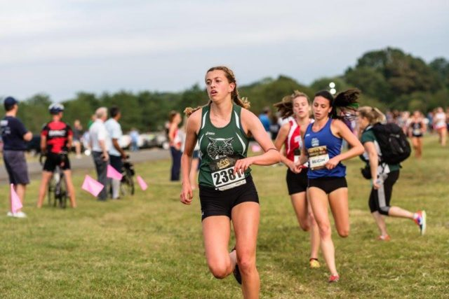 Katrione Kirsch at the DCXC Invitational. Photo: Dustin Whitlow