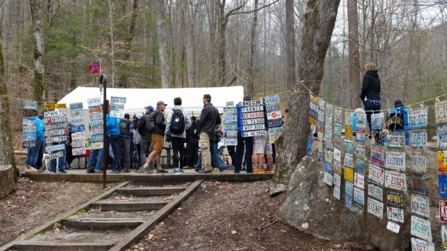The scene at the 2017 Barkley Marathons camp. Photo: Conrad Laskowski