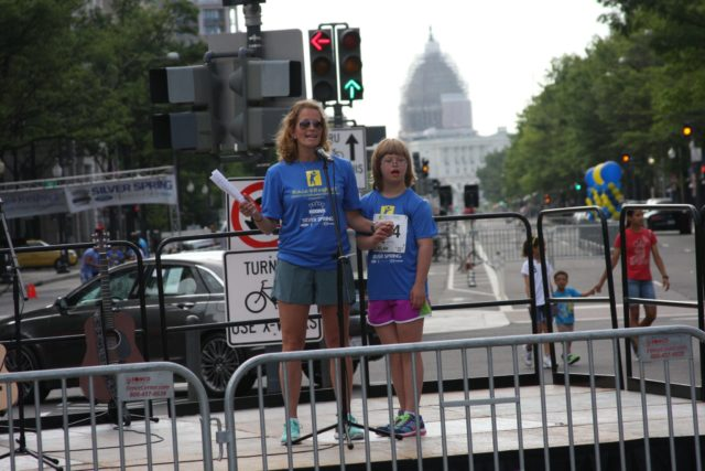 Gena Mitchell and her daughter, Devin, at the 2015 Race4Respect. Photo courtesy of Gena Mitchell