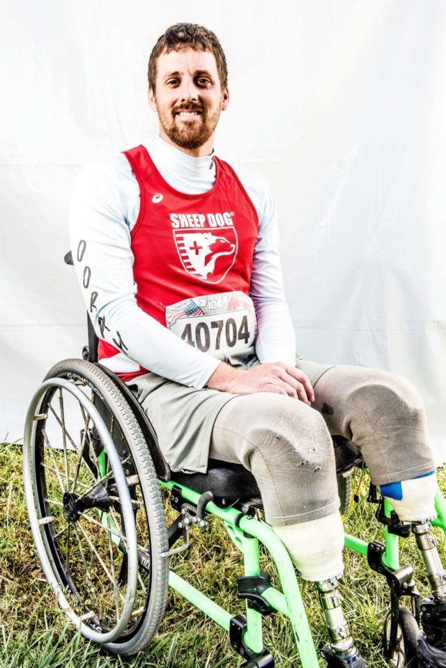 "Photo By Doug Stroud Matt Spang, retired Army in November 2013, of Wisconsin Rapids, WI who now resides in Monument, CO participating in his first race finished with a time of 2:12:32 in the 2017 Marine Corps Marathon 10K. ""I do stuff like this, I like being with my brothers, my veterans especially, they push me and I push them which makes us a better person overall. The course was full of beautiful scenery, it was a fun day and lot of people came out and cheered that helped us."" West will start back to school in the upcoming spring for sports management in Colorado Springs, Co."