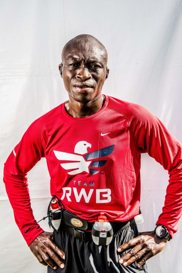"Photo By Doug Stroud William Smith from Sierra Leone, West Africa now resides at Andrews Air Force Base ran his first Marine Corps Marathon in 3:25:22. Not being familiar with the course Smith said he needed to manage his speed, ""I'm glad with my time, I've done better than any of my other marathons, I'm glad with my time"". Running for Red White and Blue, ""Is one of the groups I admire for the fact of what they do for the veterans and that is I decided to run on them today"". Smith will be running the Philadelphia Bell Marathon next month, the half on Saturday and full on Sunday."